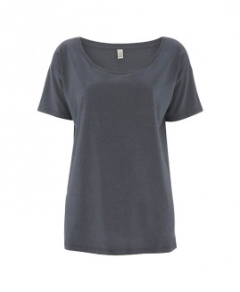 Earth Positive Women`s Tencel Blend Oversized T-Shirt