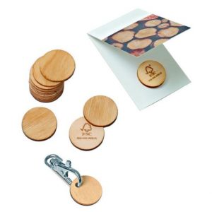 Wooden Chip Green Coin