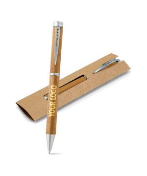 Kugelschreiber aus Bambus im Karton