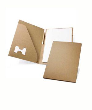 Dokumentenmappe inkl. recycleten Blätten und Kugelschreiber