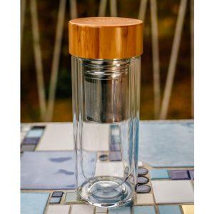 EG506 Doppelwandige Glasflasche 400ml