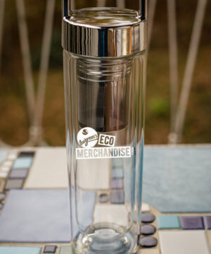 EG507 Doppelwandige Glasflasche mit Teeeinsatz